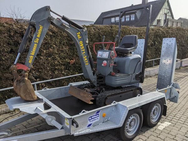 Minibagger 850 kg
